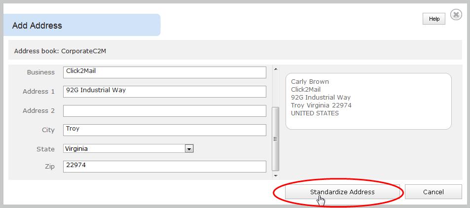 Standardize Address