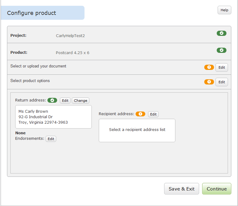 Configure Product Page