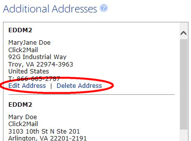 Change Additional Address